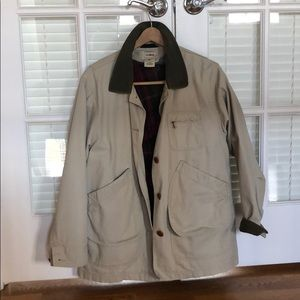 LL bean coat with fleece removable insert.